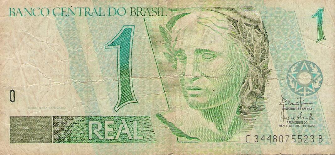 Cambio real brasileño a dólar